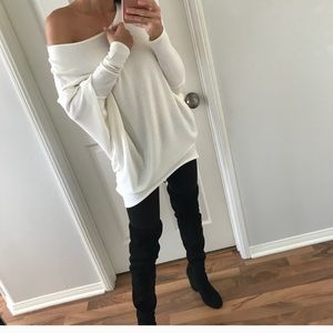 Long sleeve white top very soft fabric